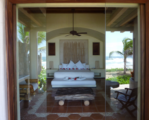 Hotel room suite at the Las Palmas hotel in Zihuatanejo Mexico