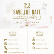 12 Save the date wording ideas infographic by Aerialist Press