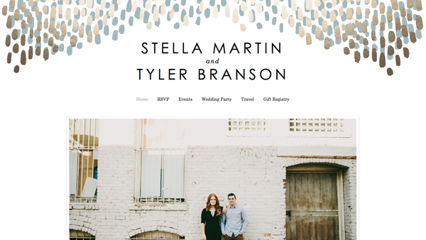 Wedding website design by Minted