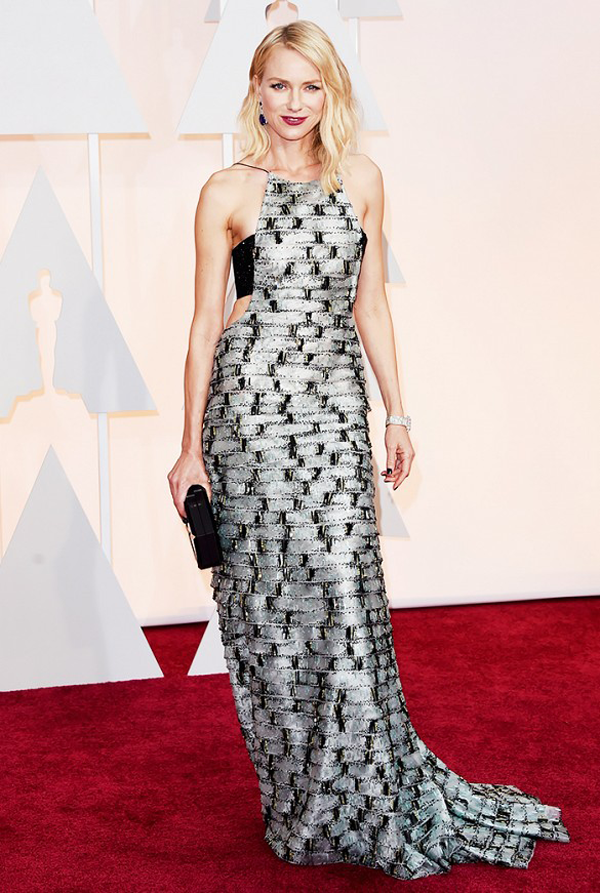 Naomi Watts wears metallic Armani Privé gown for 2015 Oscars wedding inspiration by destination wedding planner Mango Muse Events