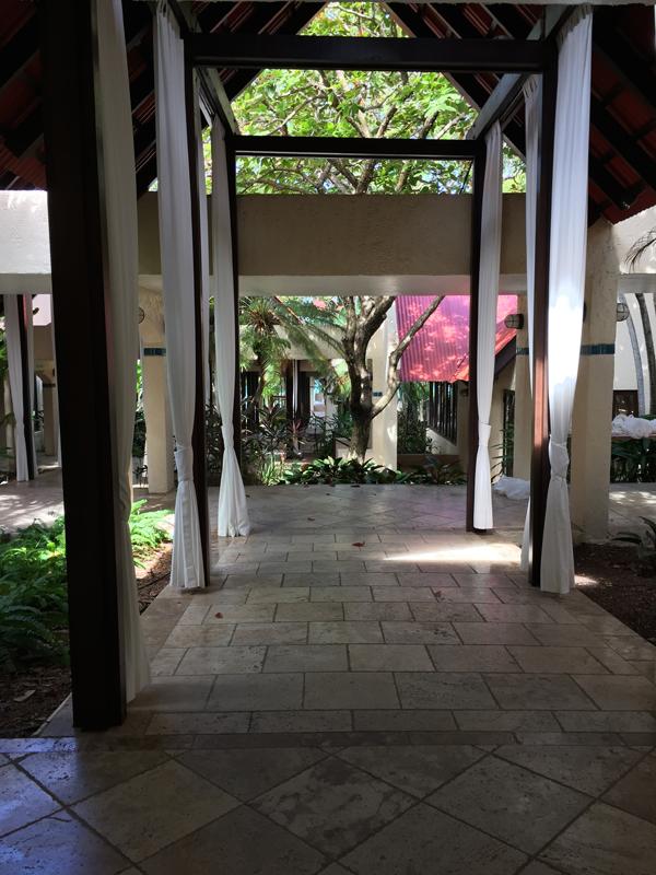 Hallway of the Renaissance Carambola Resort, a Caribbean destination wedding venue. Photo taken by Jamie Chang destination wedding planner of Mango Muse Events.
