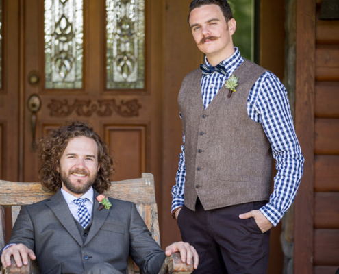 Best man and the groom at a Sonoma destination wedding by Destination wedding planner Mango Muse Events