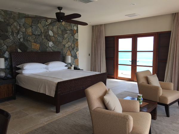 One of the Jose House Villa bedrooms perfect for a Guana destination wedding in the Caribbean by Jamie Chang destination wedding planner of Mango Muse Events.