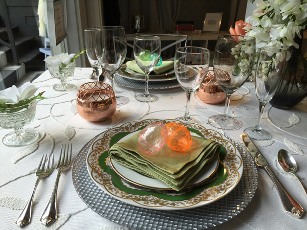 Easter table setting idea. Design by Jamie Chang of Mango Muse Events.