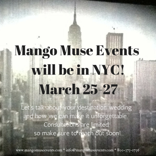Mango Muse Events will be in NYC March 23-27