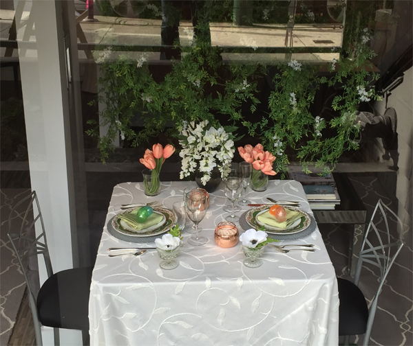 Easter table decor design by Jamie Chang of Mango Muse Events.