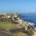 Fort El Morro, Puerto Rick, a destination wedding location. Photo taken by Jamie Chang destination wedding planner of Mango Muse Events.
