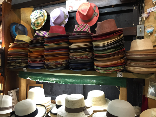 Ole hat store, makers of Panama hats in Puerto Rico. Photo taken by Jamie Chang destination wedding planner of Mango Muse Events.