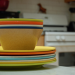 Planetware dishes, upcycled tableware.