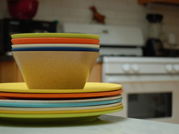 Planetware dishes, upcycled eco-conscious tableware.