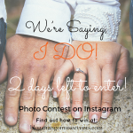 We're saying I do Instagram Contest by Mango Muse Events.