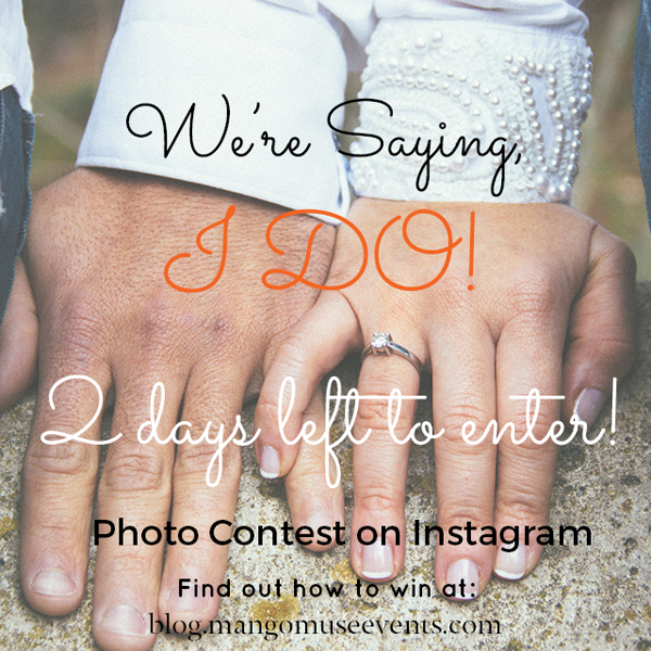 We're saying I do Instagram Contest by Mango Muse Events for 2 tickets to the Beyond Blu Bungalow Venue Tours at the Exploratorium