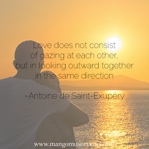 Love quote by Antoine de Saint-Exupery.