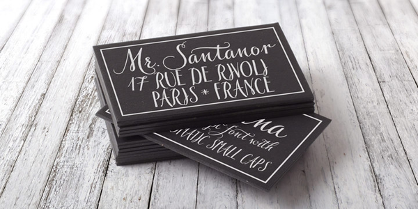 Finding your wedding fonts.
