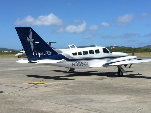 Cape Air Flight for Caribbean Destination Wedding