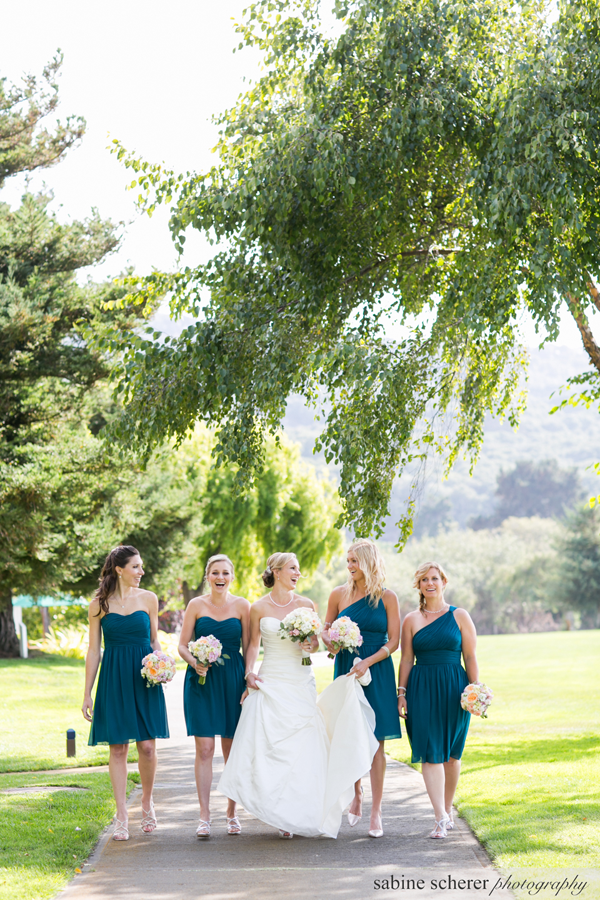 Bridal party at destination wedding in Carmel by Jamie Chang destination wedding planner of Mango Muse Events.
