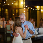 Father daughter dance at the wedding reception by Jamie Chang destination wedding planner of Mango Muse Events.