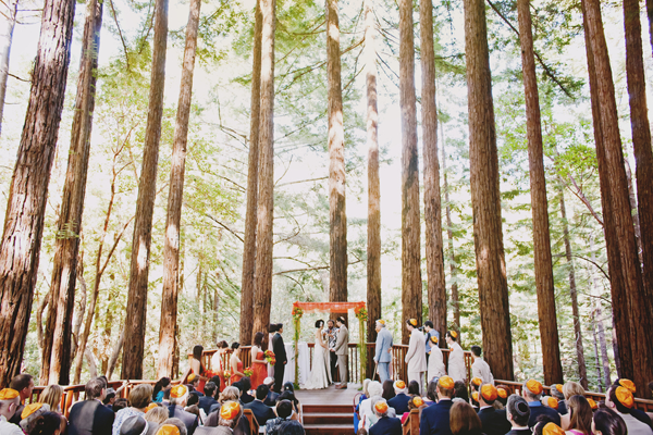 Wedding ceremony photos taken at a Santa Cruz wedding by Jerry Yoon Photographers and shared by Jamie Chang destination wedding planner of Mango Muse Events.