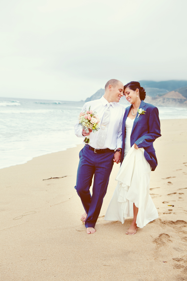 Beach wedding at Half Moon Bay. Event design by Jamie Chang of Mango Muse Events.