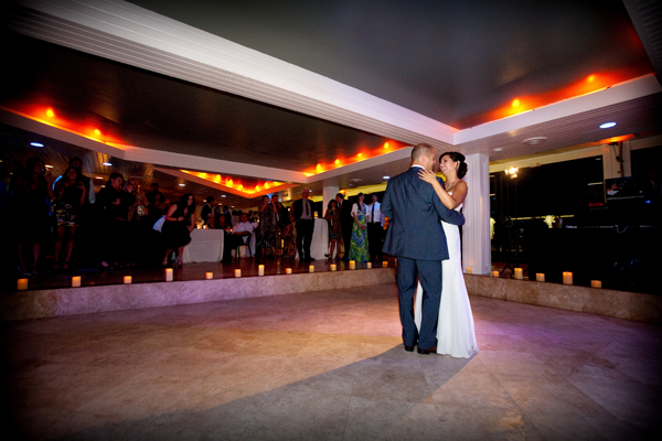 First dance at beach wedding reception in Half Moon Bay. Event design by Jamie Chang of Mango Muse Events.