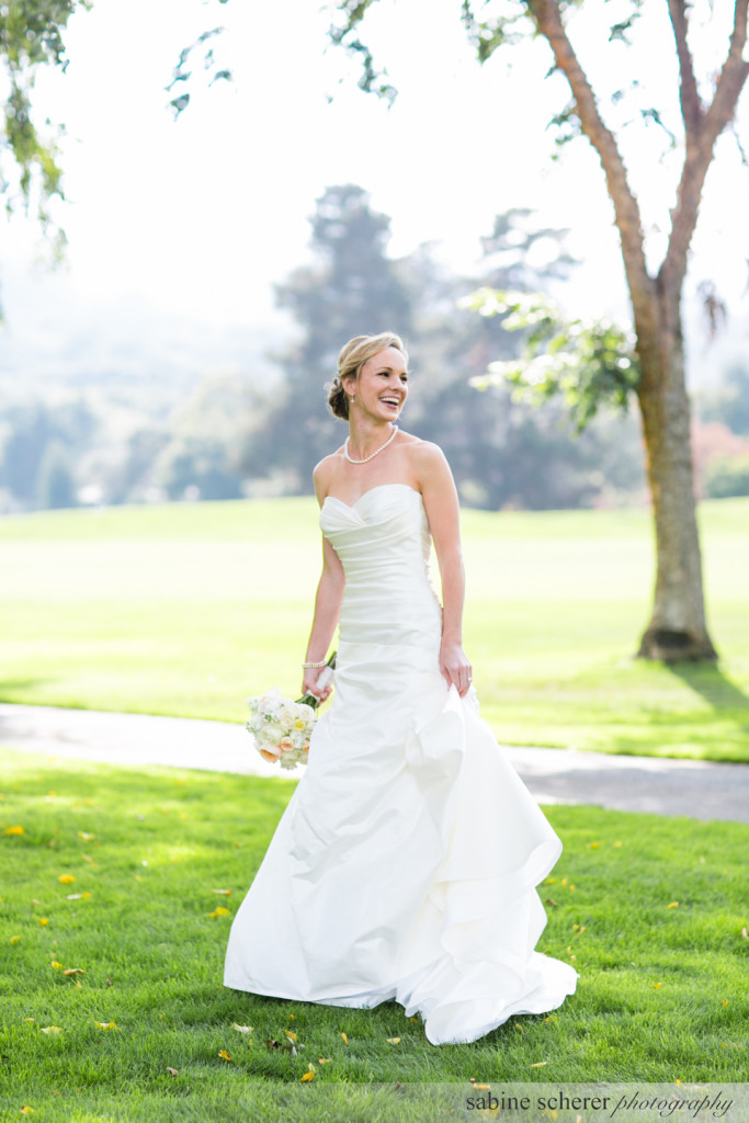 Beautiful bride at a Carmel Destination Wedding by wedding planner, Jamie Chang of Mango Muse Events.