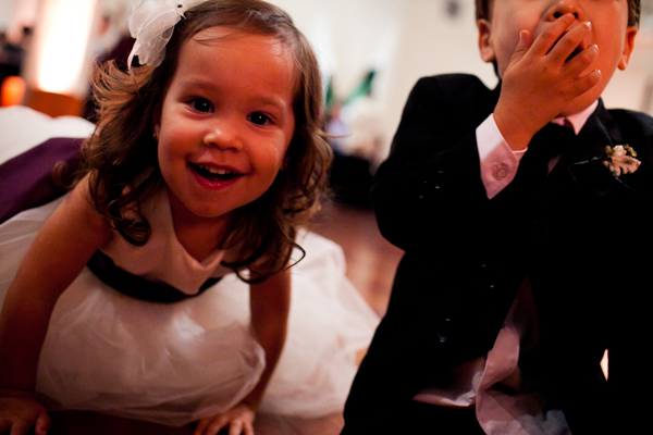 Kids playing at wedding reception in San Francisco Wedding by Jamie Chang of Mango Muse Events.