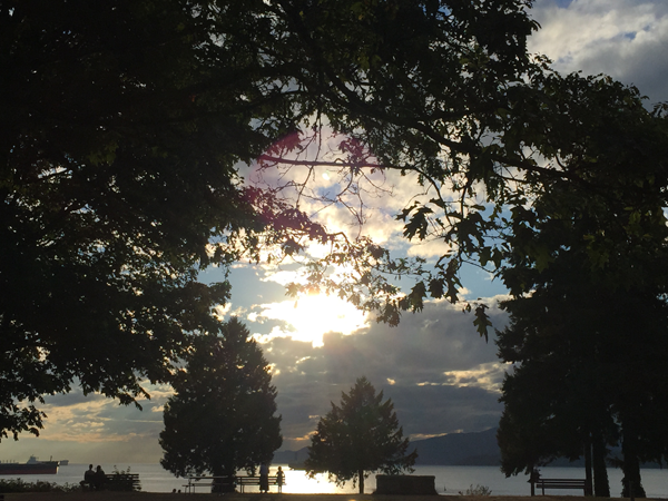 Sunset at Stanley Park in Vancouver. Photo taken by Jamie Chang destination wedding planner of Mango Muse Events.