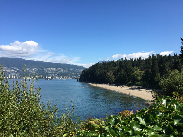 Beaches of Stanley Park in Vancouver. Photo taken by Jamie Chang destination wedding planner of Mango Muse Events.