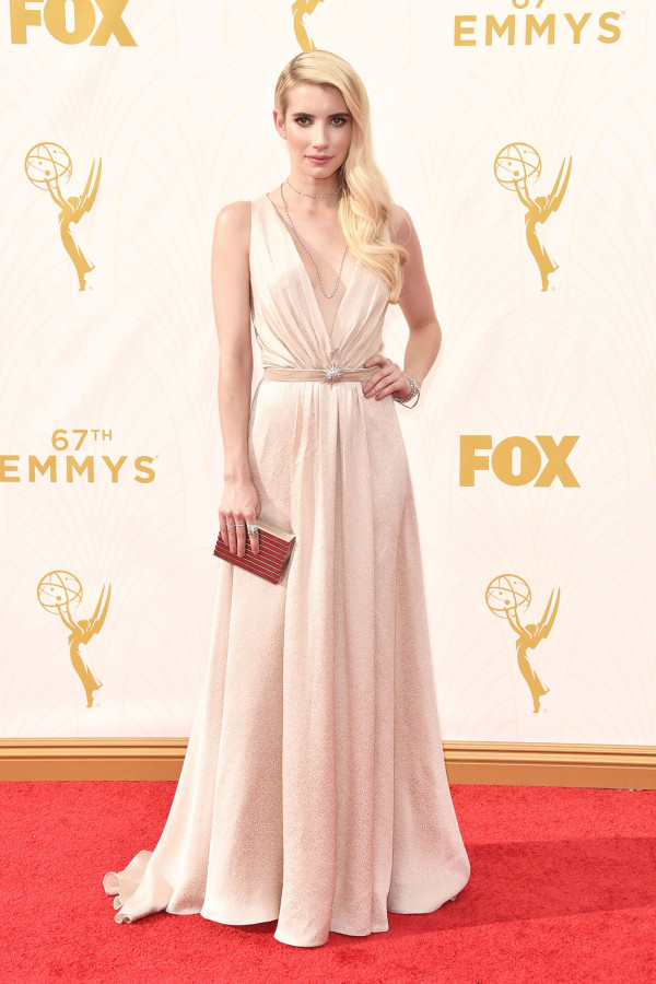 Wedding dress inspiration for the non traditional bride by Jamie Chang of Mango Muse Events. Jenny Packham dress worn by Emma Roberts at 2015 Emmys.