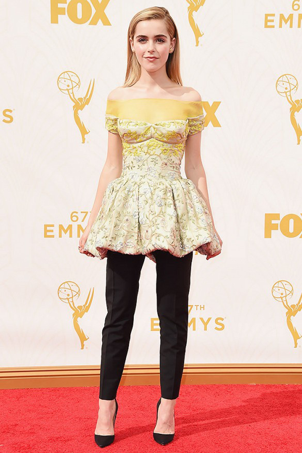Wedding dress inspiration for the non traditional bride by Jamie Chang of Mango Muse Events. Dior Haute Couture worn by Kiernan Shipka at 2015 Emmys.