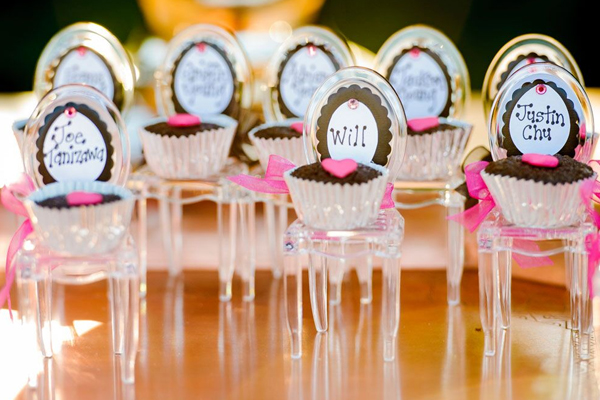 Cupcake seating cards at a fun Sonoma destination wedding designed by Destination wedding planner Jamie Chang at Mango Muse Events