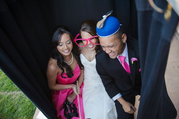 Fun photobooth at a fun Sonoma destination wedding designed by Destination wedding planner Jamie Chang at Mango Muse Events