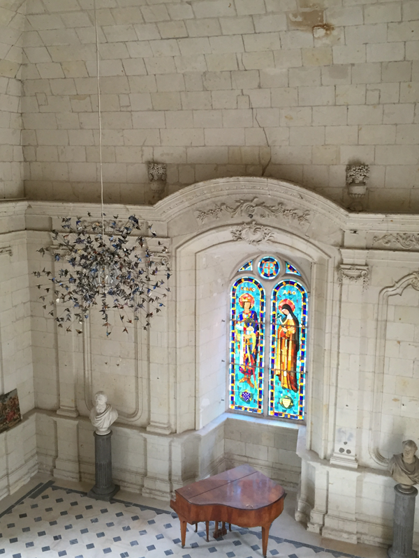 View of the chapel of Chateau de Jalesnes a Destination Wedding venue in France