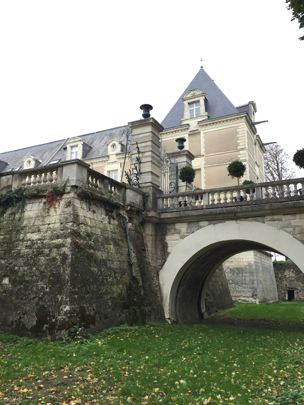View from the moat of the Chateau de Jalesnes a Destination Wedding venue in France