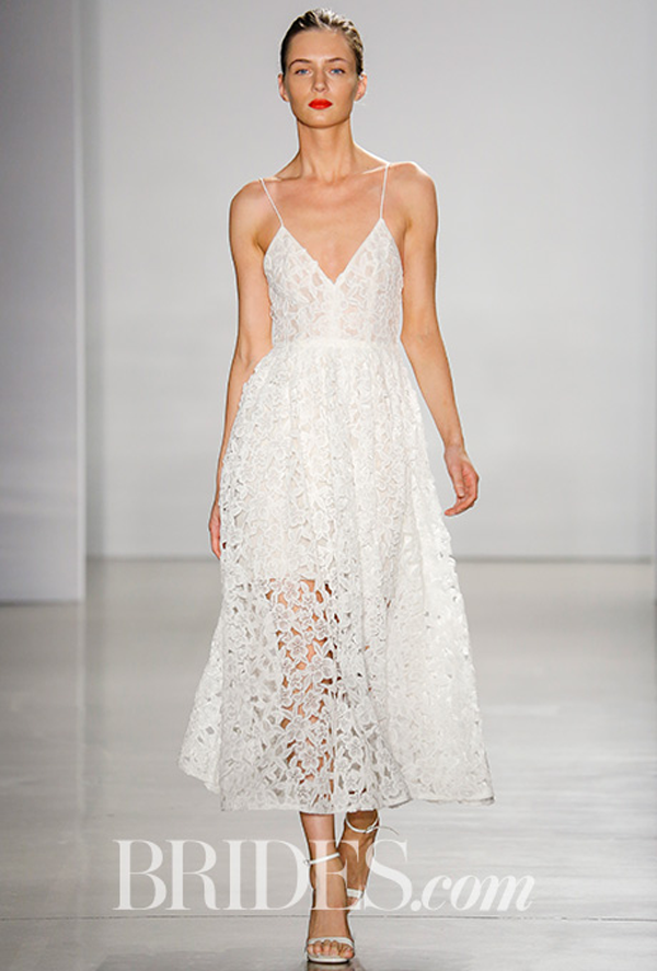 Amsale eyelet  wedding gown Fall 2016