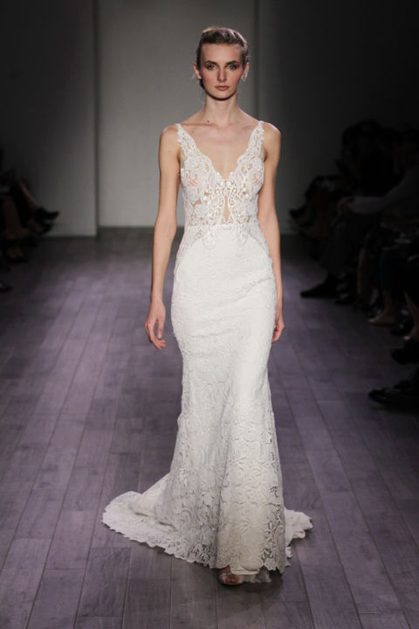 Lazaro 2 piece Lace Bridal Gown