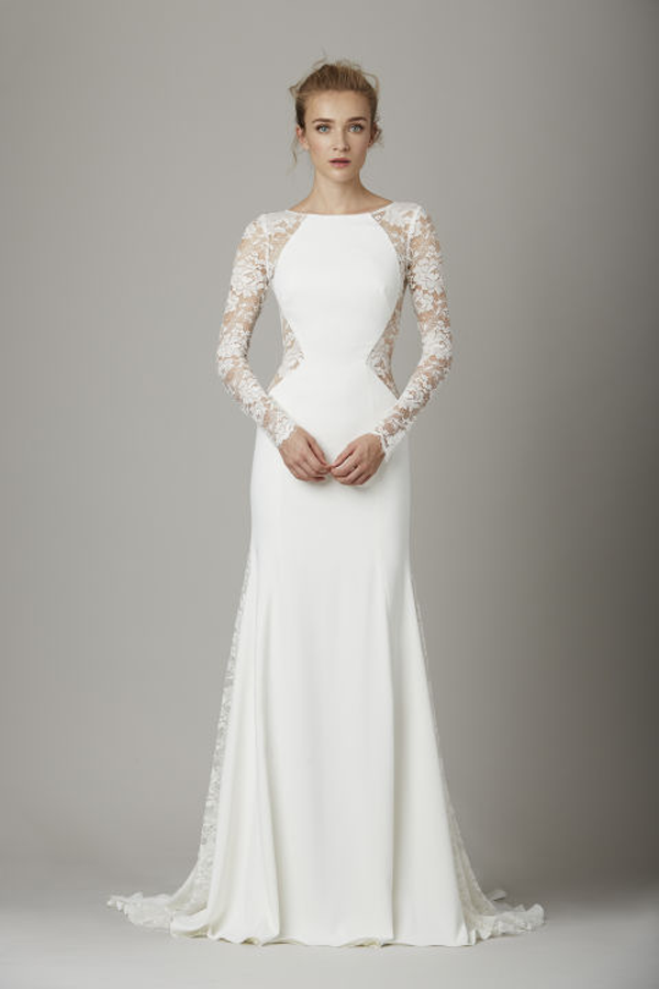 Lace sleeve Lela Rose Bridal Gown Fall 2016