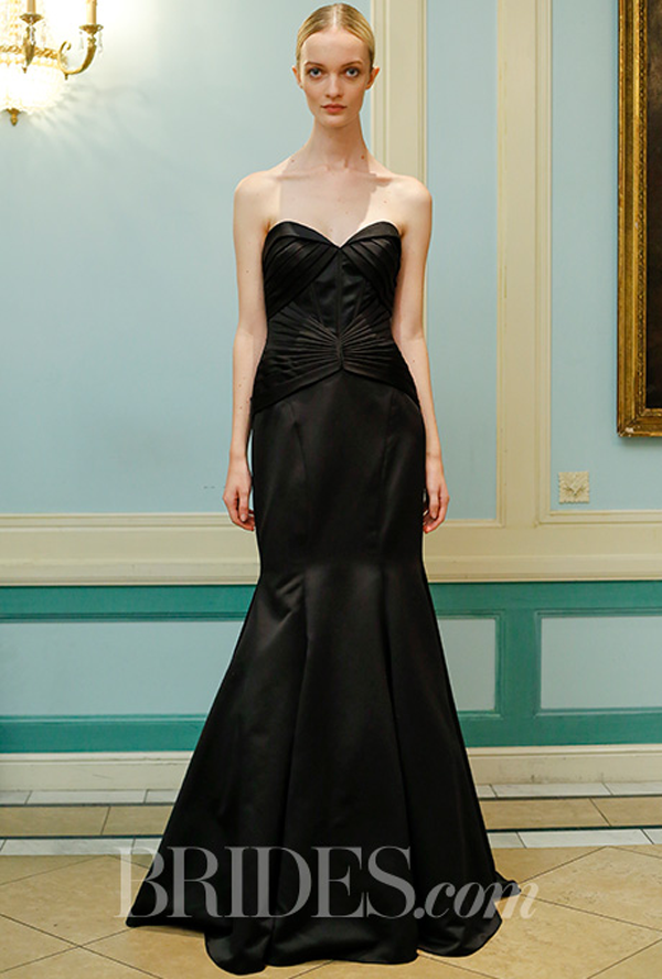 Zac Posen Black Wedding dress Fall 2016