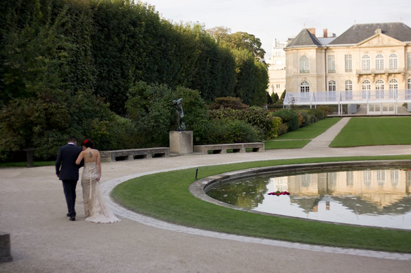 Destination wedding in Paris at the Rodin Museum