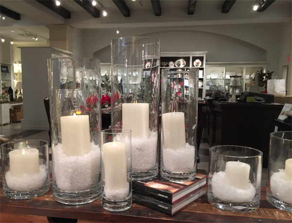 Fake snow decor idea by Jamie Chang of Mango Muse Events