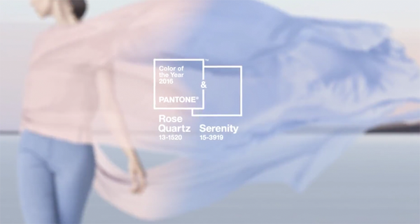 Pantone colors of 2016 Rose Quartz and Serenity
