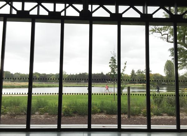 Window view from Dovecote at Les Pavillons des Etangs Destination Wedding Venue in Bois-de-Boulogne Paris
