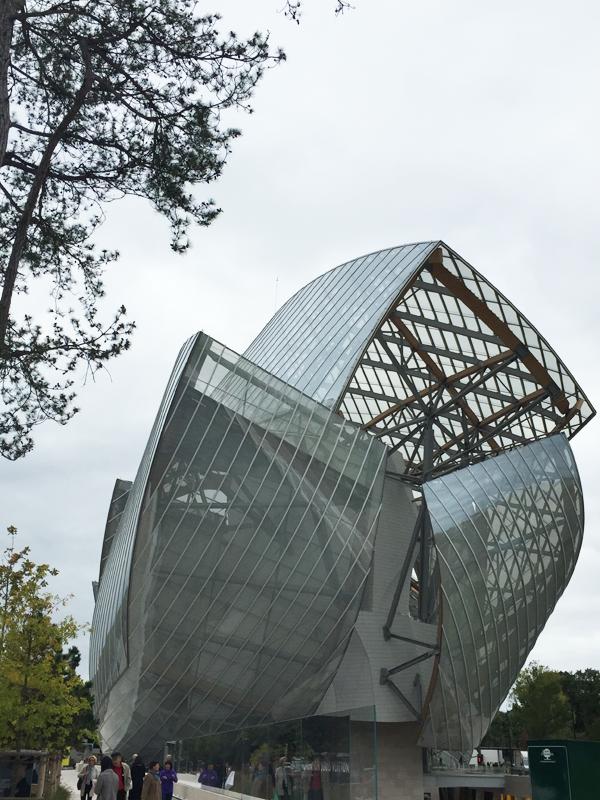 Louis Vuitton Foundation Museum at Bois de Boulogne Park in Paris