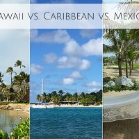 Destination wedding locations Hawaii, Caribbean, and Mexico
