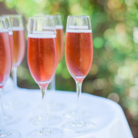 Champagne cocktail for a Spring Party by Destination Wedding Planner, Mango Muse Events