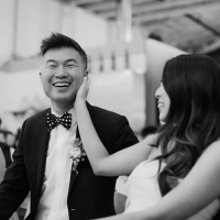 Smiling wedding couple at a San Francisco wedding by Destination wedding planner, Mango Muse Events