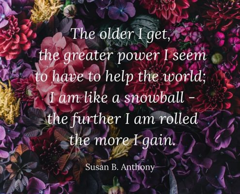 Susan B. Anthony Quote for International Women's Day