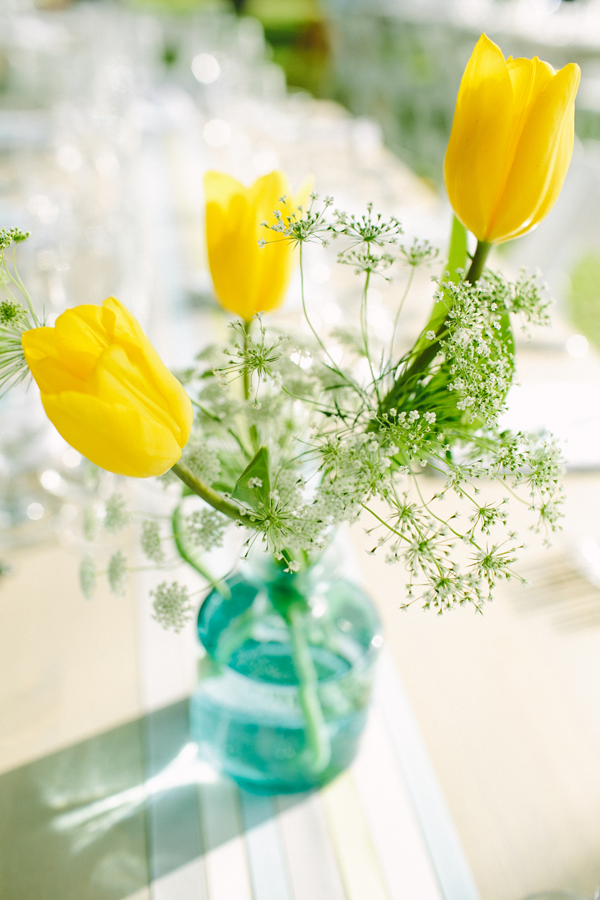 Yellow tulips for a spring wedding by destination wedding planner Mango Muse Events