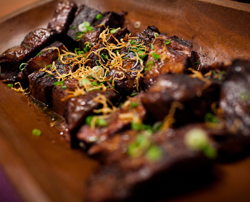 Short ribs on a caterer wedding menu at at San Francisco wedding planned by Destination wedding planner Mango Muse Events