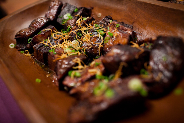 Short ribs on a wedding menu at a San Francisco wedding planned by Destination wedding planner Mango Muse Events